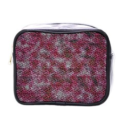 Pink texture                 Mini Toiletries Bag (One Side)