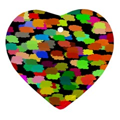 Colorful paint on a black background                 Ornament (Heart)