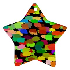 Colorful paint on a black background                 Ornament (Star)