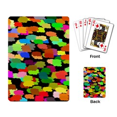 Colorful paint on a black background                 Playing Cards Single Design