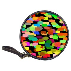 Colorful paint on a black background                 Classic 20-CD Wallet