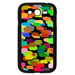 Colorful paint on a black background           Samsung Galaxy S4 I9500/ I9505 Case (Black)