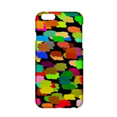 Colorful paint on a black background           Apple iPhone 6/6S Black Enamel Case