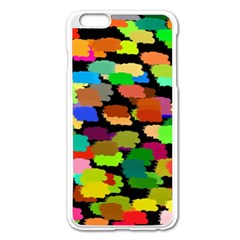 Colorful paint on a black background           Apple iPhone 6/6S Leather Folio Case