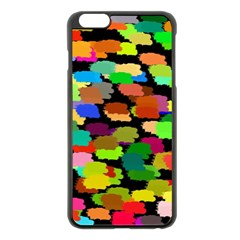 Colorful paint on a black background           Apple iPhone 6 Plus/6S Plus Hardshell Case