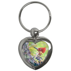 Woodpecker At Forest Pecking Tree, Patagonia, Argentina Key Chains (Heart)