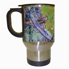Woodpecker At Forest Pecking Tree, Patagonia, Argentina Travel Mugs (White)