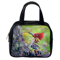 Woodpecker At Forest Pecking Tree, Patagonia, Argentina Classic Handbags (One Side)