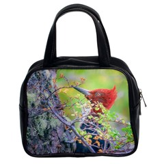 Woodpecker At Forest Pecking Tree, Patagonia, Argentina Classic Handbags (2 Sides)