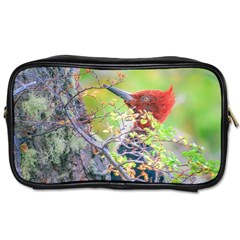 Woodpecker At Forest Pecking Tree, Patagonia, Argentina Toiletries Bags