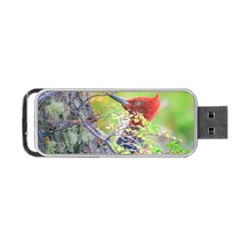 Woodpecker At Forest Pecking Tree, Patagonia, Argentina Portable USB Flash (One Side)