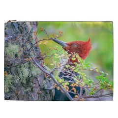 Woodpecker At Forest Pecking Tree, Patagonia, Argentina Cosmetic Bag (XXL)