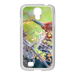 Woodpecker At Forest Pecking Tree, Patagonia, Argentina Samsung GALAXY S4 I9500/ I9505 Case (White)