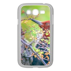 Woodpecker At Forest Pecking Tree, Patagonia, Argentina Samsung Galaxy Grand DUOS I9082 Case (White)