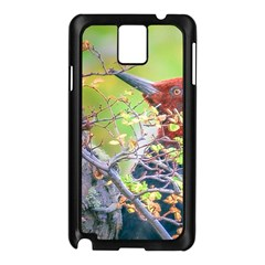 Woodpecker At Forest Pecking Tree, Patagonia, Argentina Samsung Galaxy Note 3 N9005 Case (Black)