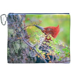 Woodpecker At Forest Pecking Tree, Patagonia, Argentina Canvas Cosmetic Bag (XXXL)