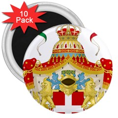 Coat of Arms of The Kingdom of Italy 3  Magnets (10 pack)