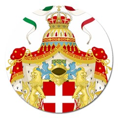 Coat of Arms of The Kingdom of Italy Magnet 5  (Round)
