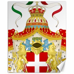 Coat of Arms of The Kingdom of Italy Canvas 11  x 14
