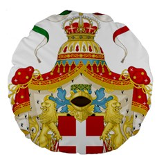 Coat of Arms of The Kingdom of Italy Large 18  Premium Round Cushions