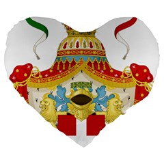 Coat of Arms of The Kingdom of Italy Large 19  Premium Heart Shape Cushions