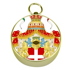 Coat of Arms of The Kingdom of Italy Gold Compasses