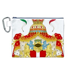 Coat of Arms of The Kingdom of Italy Canvas Cosmetic Bag (L)