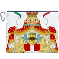 Coat of Arms of The Kingdom of Italy Canvas Cosmetic Bag (XXXL)
