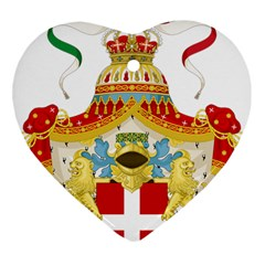 Coat of Arms of The Kingdom of Italy Ornament (Heart)