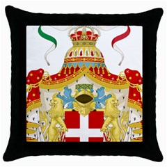 Coat of Arms of The Kingdom of Italy Throw Pillow Case (Black)