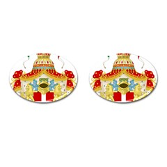 Coat of Arms of The Kingdom of Italy Cufflinks (Oval)