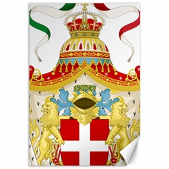 Coat Of Arms Of The Kingdom Of Italy Canvas 12  X 18