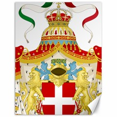 Coat of Arms of The Kingdom of Italy Canvas 18  x 24