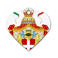 Coat of Arms of The Kingdom of Italy Dog Tag Heart (Two Sides)