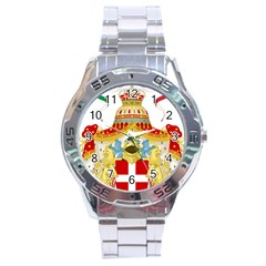 Coat of Arms of The Kingdom of Italy Stainless Steel Analogue Watch