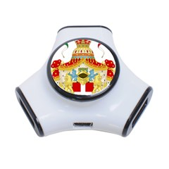 Coat of Arms of The Kingdom of Italy 3-Port USB Hub