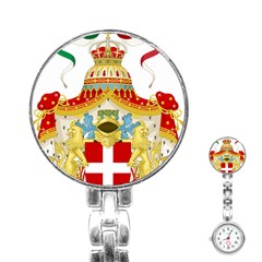 Coat of Arms of The Kingdom of Italy Stainless Steel Nurses Watch