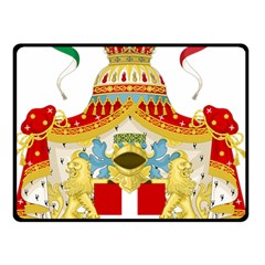 Coat of Arms of The Kingdom of Italy Double Sided Fleece Blanket (Small)