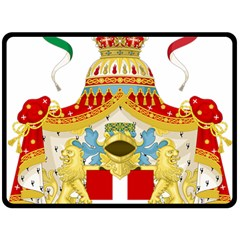 Coat of Arms of The Kingdom of Italy Double Sided Fleece Blanket (Large)