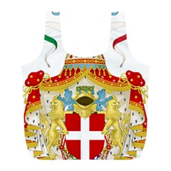 Coat of Arms of The Kingdom of Italy Full Print Recycle Bags (L)