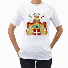 Coat of Arms of The Kingdom of Italy Women s T-Shirt (White)