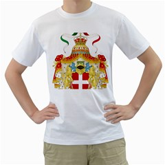 Coat of Arms of The Kingdom of Italy Men s T-Shirt (White)