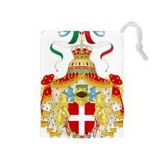 Coat of Arms of The Kingdom of Italy Drawstring Pouches (Medium)