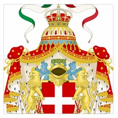 Coat of Arms of The Kingdom of Italy Large Satin Scarf (Square)