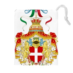 Coat of Arms of The Kingdom of Italy Drawstring Pouches (Extra Large)