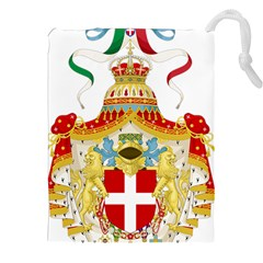 Coat of Arms of The Kingdom of Italy Drawstring Pouches (XXL)