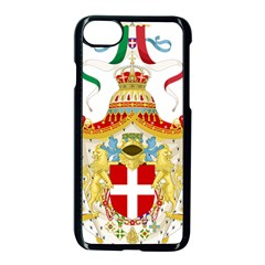 Coat of Arms of The Kingdom of Italy Apple iPhone 7 Seamless Case (Black)