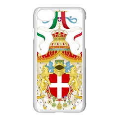 Coat of Arms of The Kingdom of Italy Apple iPhone 7 Seamless Case (White)