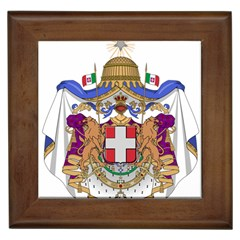 Greater Coat of Arms of Italy, 1870-1890  Framed Tiles