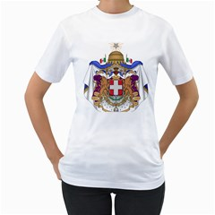 Greater Coat of Arms of Italy, 1870-1890  Women s T-Shirt (White) (Two Sided)